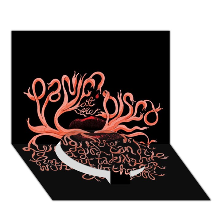 Panic At The Disco   Lying Is The Most Fun A Girl Have Without Taking Her Clothes Circle Bottom 3D Greeting Card (7x5)