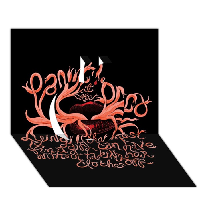 Panic At The Disco   Lying Is The Most Fun A Girl Have Without Taking Her Clothes Apple 3D Greeting Card (7x5)