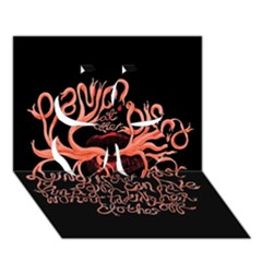 Panic At The Disco   Lying Is The Most Fun A Girl Have Without Taking Her Clothes Clover 3D Greeting Card (7x5)