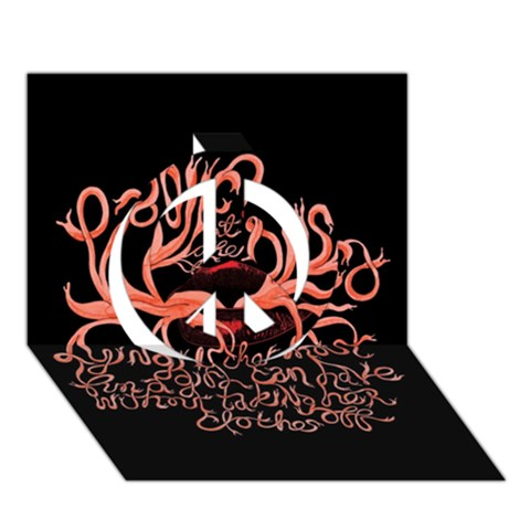 Panic At The Disco   Lying Is The Most Fun A Girl Have Without Taking Her Clothes Peace Sign 3D Greeting Card (7x5)