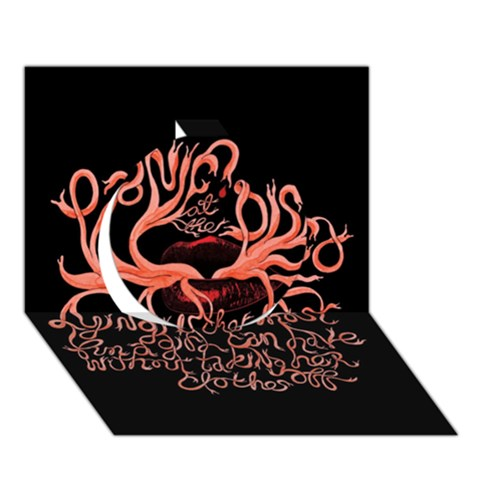 Panic At The Disco   Lying Is The Most Fun A Girl Have Without Taking Her Clothes Circle 3D Greeting Card (7x5)