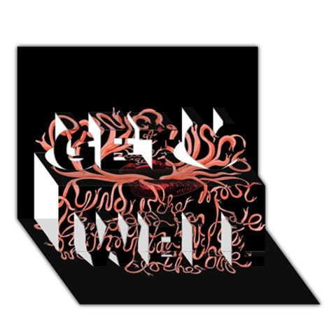 Panic At The Disco   Lying Is The Most Fun A Girl Have Without Taking Her Clothes Get Well 3D Greeting Card (7x5)