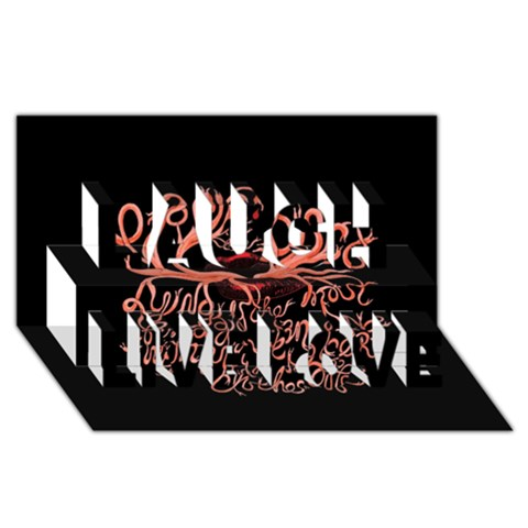 Panic At The Disco   Lying Is The Most Fun A Girl Have Without Taking Her Clothes Laugh Live Love 3D Greeting Card (8x4)