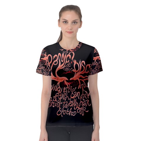 Panic At The Disco   Lying Is The Most Fun A Girl Have Without Taking Her Clothes Women s Sport Mesh Tee
