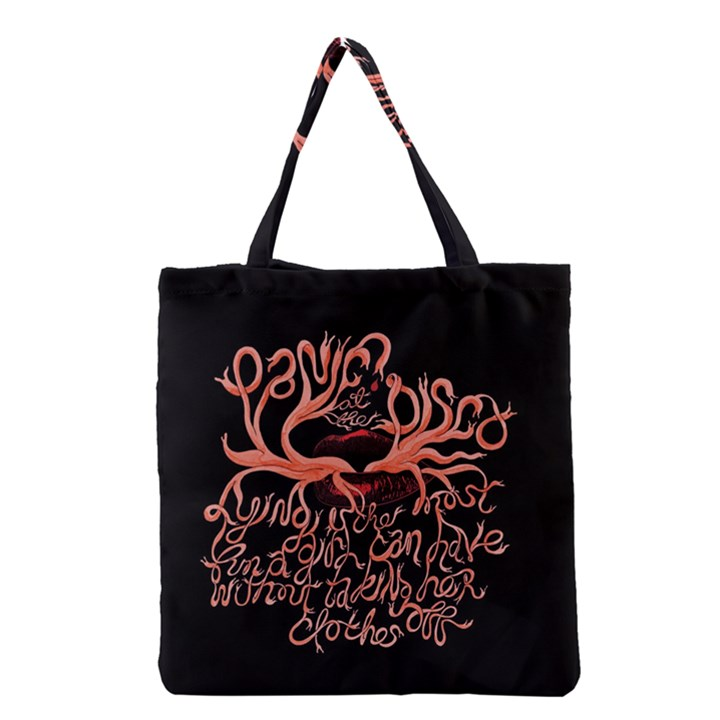Panic At The Disco   Lying Is The Most Fun A Girl Have Without Taking Her Clothes Grocery Tote Bag