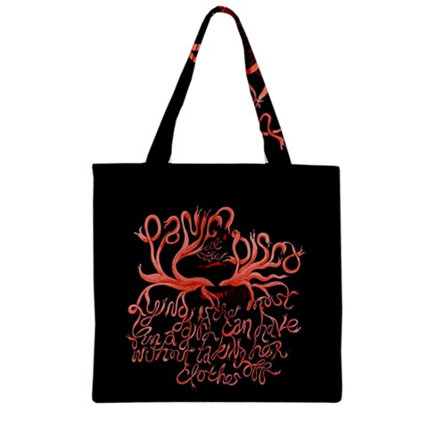 Panic At The Disco   Lying Is The Most Fun A Girl Have Without Taking Her Clothes Zipper Grocery Tote Bag