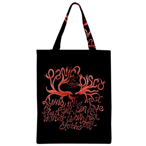 Panic At The Disco   Lying Is The Most Fun A Girl Have Without Taking Her Clothes Zipper Classic Tote Bag