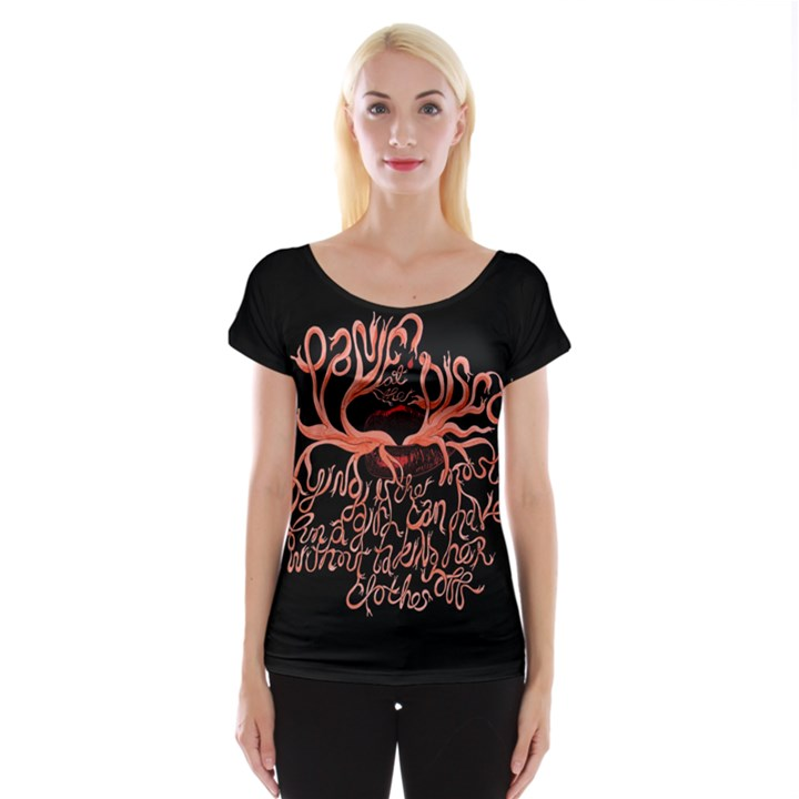 Panic At The Disco   Lying Is The Most Fun A Girl Have Without Taking Her Clothes Women s Cap Sleeve Top