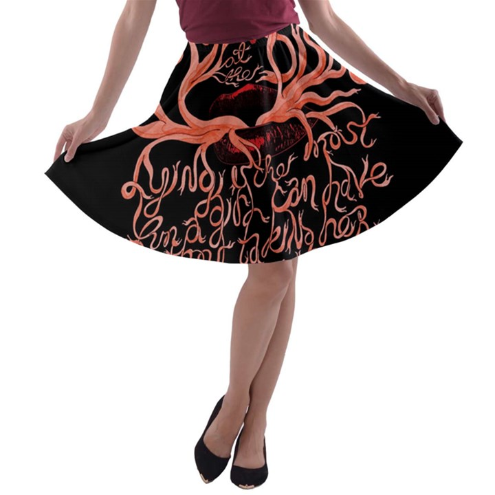 Panic At The Disco   Lying Is The Most Fun A Girl Have Without Taking Her Clothes A-line Skater Skirt