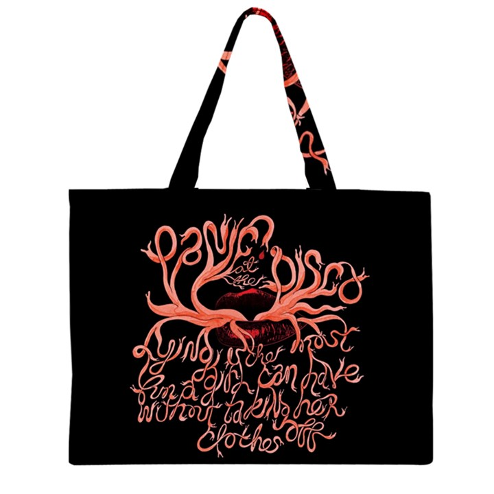 Panic At The Disco   Lying Is The Most Fun A Girl Have Without Taking Her Clothes Large Tote Bag