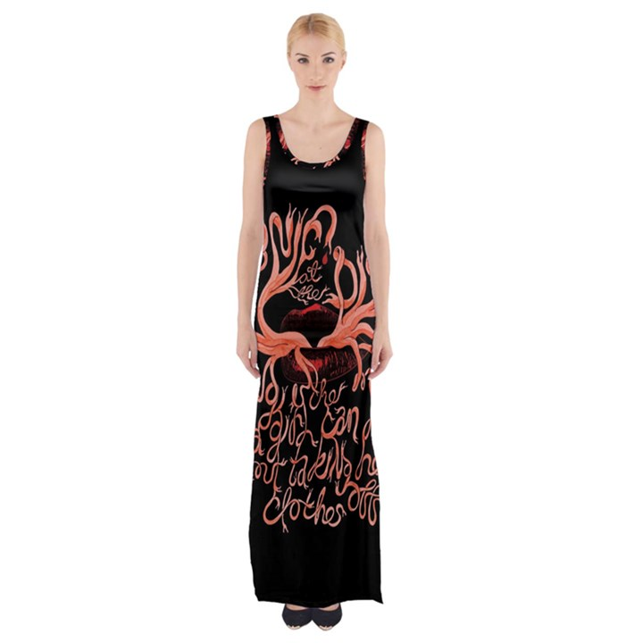 Panic At The Disco   Lying Is The Most Fun A Girl Have Without Taking Her Clothes Maxi Thigh Split Dress