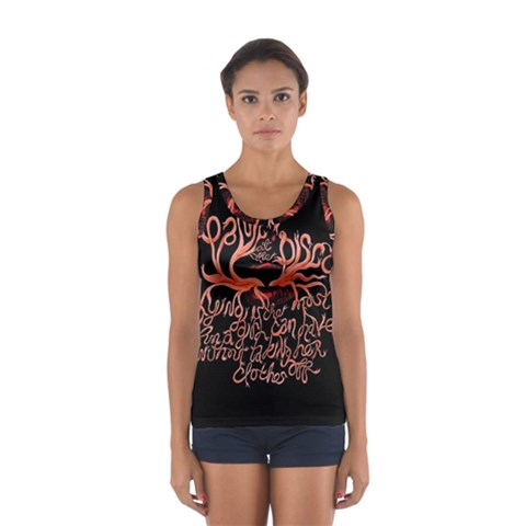 Panic At The Disco   Lying Is The Most Fun A Girl Have Without Taking Her Clothes Women s Sport Tank Top