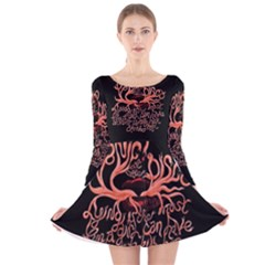 Panic At The Disco   Lying Is The Most Fun A Girl Have Without Taking Her Clothes Long Sleeve Velvet Skater Dress