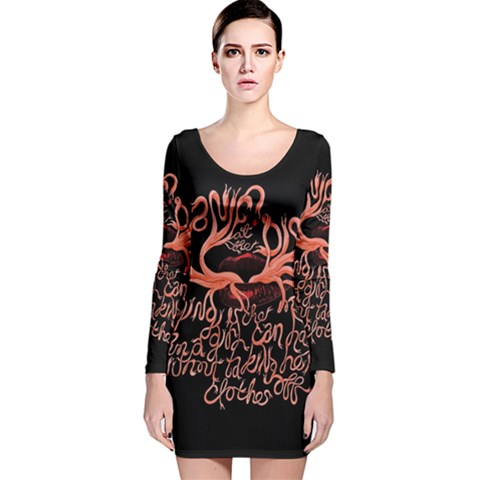 Panic At The Disco   Lying Is The Most Fun A Girl Have Without Taking Her Clothes Long Sleeve Velvet Bodycon Dress