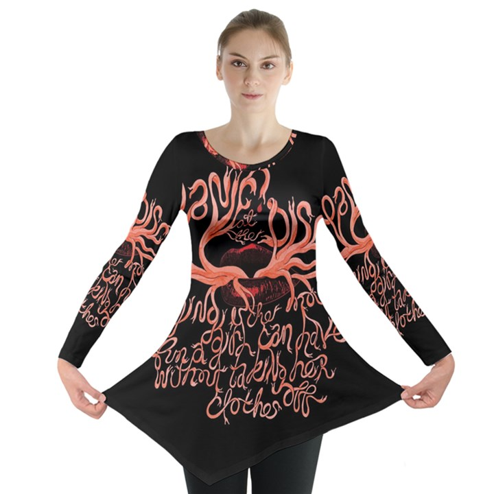 Panic At The Disco   Lying Is The Most Fun A Girl Have Without Taking Her Clothes Long Sleeve Tunic