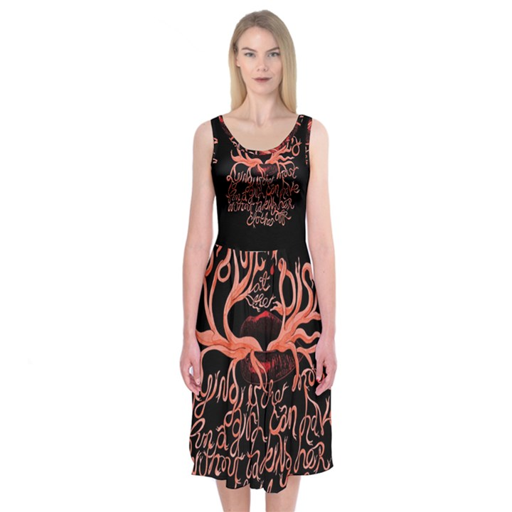 Panic At The Disco   Lying Is The Most Fun A Girl Have Without Taking Her Clothes Midi Sleeveless Dress