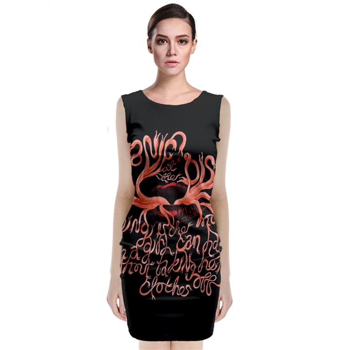 Panic At The Disco   Lying Is The Most Fun A Girl Have Without Taking Her Clothes Classic Sleeveless Midi Dress