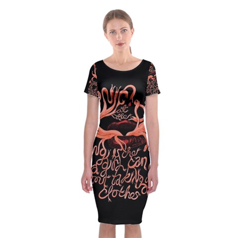 Panic At The Disco   Lying Is The Most Fun A Girl Have Without Taking Her Clothes Classic Short Sleeve Midi Dress