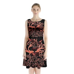Panic At The Disco   Lying Is The Most Fun A Girl Have Without Taking Her Clothes Sleeveless Chiffon Waist Tie Dress