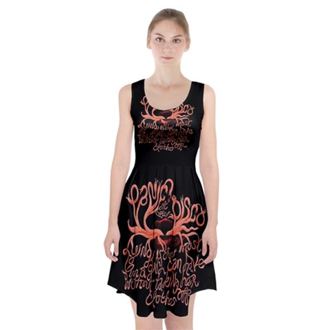Panic At The Disco   Lying Is The Most Fun A Girl Have Without Taking Her Clothes Racerback Midi Dress