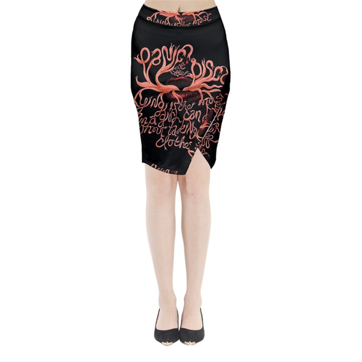 Panic At The Disco   Lying Is The Most Fun A Girl Have Without Taking Her Clothes Midi Wrap Pencil Skirt