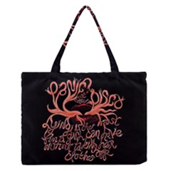 Panic At The Disco   Lying Is The Most Fun A Girl Have Without Taking Her Clothes Medium Zipper Tote Bag