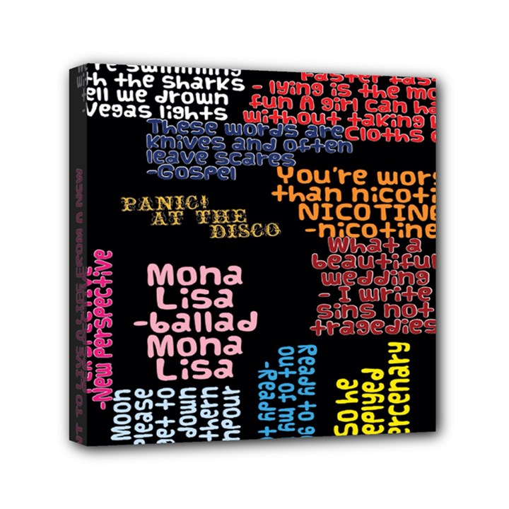 Panic At The Disco Northern Downpour Lyrics Metrolyrics Mini Canvas 6  x 6