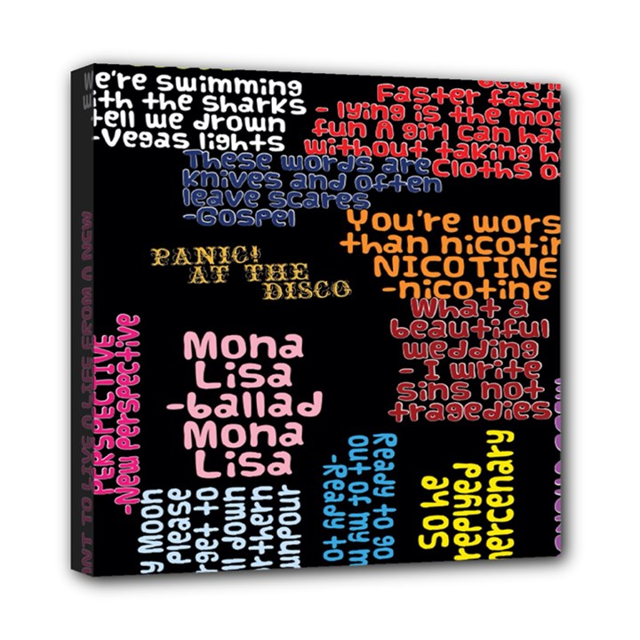 Panic At The Disco Northern Downpour Lyrics Metrolyrics Mini Canvas 8  x 8