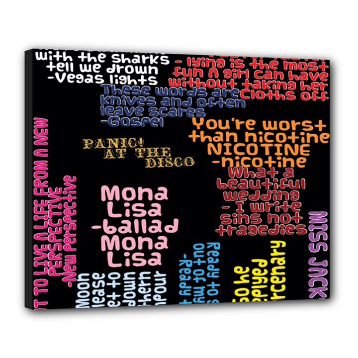 Panic At The Disco Northern Downpour Lyrics Metrolyrics Canvas 20  x 16
