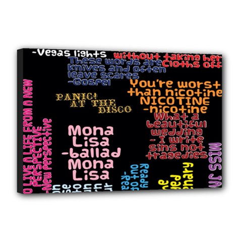 Panic At The Disco Northern Downpour Lyrics Metrolyrics Canvas 18  x 12