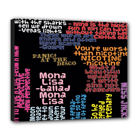 Panic At The Disco Northern Downpour Lyrics Metrolyrics Deluxe Canvas 24  X 20