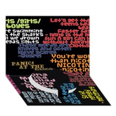 Panic At The Disco Northern Downpour Lyrics Metrolyrics Circle Bottom 3d Greeting Card (7x5)
