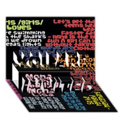 Panic At The Disco Northern Downpour Lyrics Metrolyrics You Are Invited 3d Greeting Card (7x5)