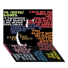 Panic At The Disco Northern Downpour Lyrics Metrolyrics Apple 3D Greeting Card (7x5)