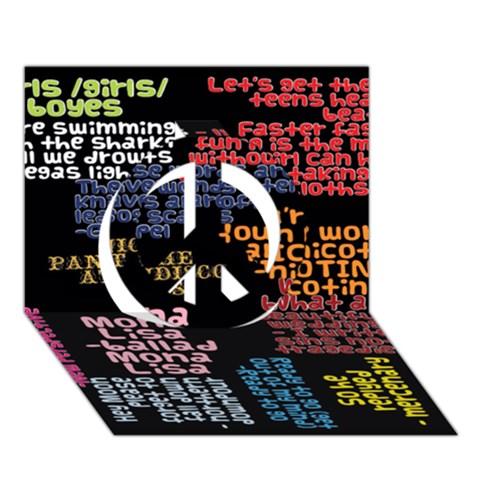 Panic At The Disco Northern Downpour Lyrics Metrolyrics Peace Sign 3D Greeting Card (7x5)