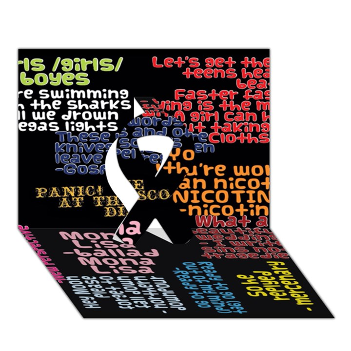 Panic At The Disco Northern Downpour Lyrics Metrolyrics Ribbon 3D Greeting Card (7x5)