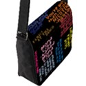Panic At The Disco Northern Downpour Lyrics Metrolyrics Flap Messenger Bag (L)  View2