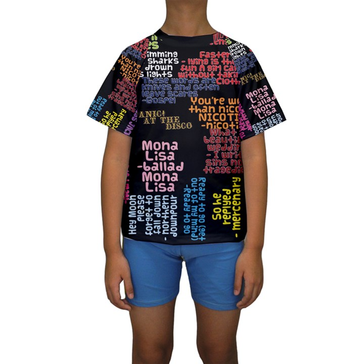 Panic At The Disco Northern Downpour Lyrics Metrolyrics Kids  Short Sleeve Swimwear