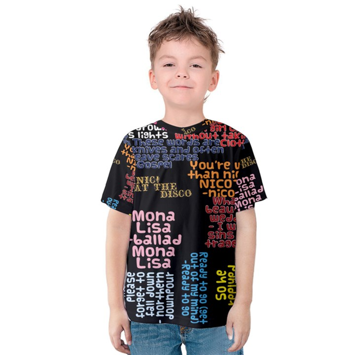 Panic At The Disco Northern Downpour Lyrics Metrolyrics Kids  Cotton Tee