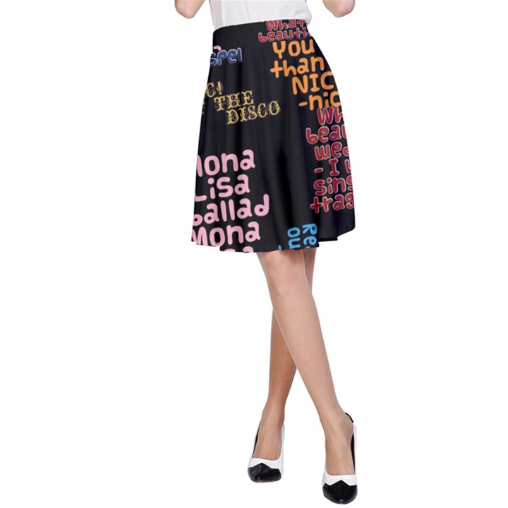 Panic At The Disco Northern Downpour Lyrics Metrolyrics A-Line Skirt