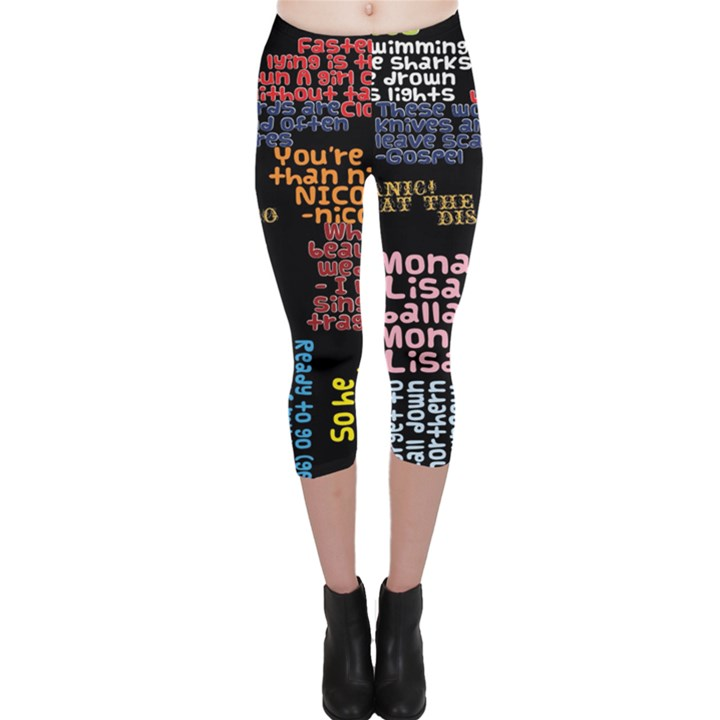 Panic At The Disco Northern Downpour Lyrics Metrolyrics Capri Leggings