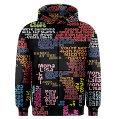 Panic At The Disco Northern Downpour Lyrics Metrolyrics Men s Zipper Hoodie