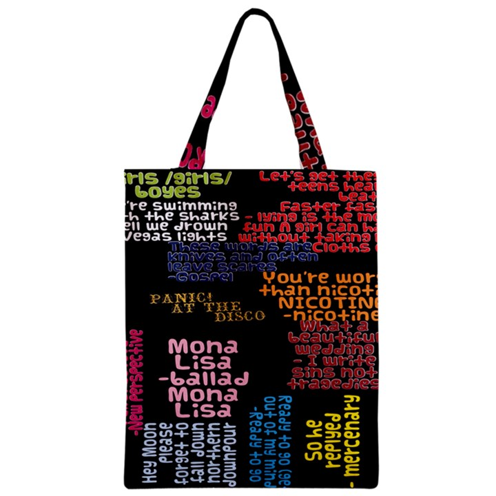 Panic At The Disco Northern Downpour Lyrics Metrolyrics Zipper Classic Tote Bag