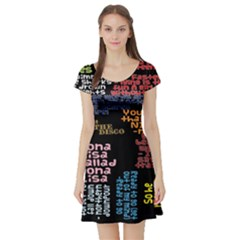 Panic At The Disco Northern Downpour Lyrics Metrolyrics Short Sleeve Skater Dress