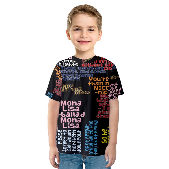 Panic At The Disco Northern Downpour Lyrics Metrolyrics Kids  Sport Mesh Tee