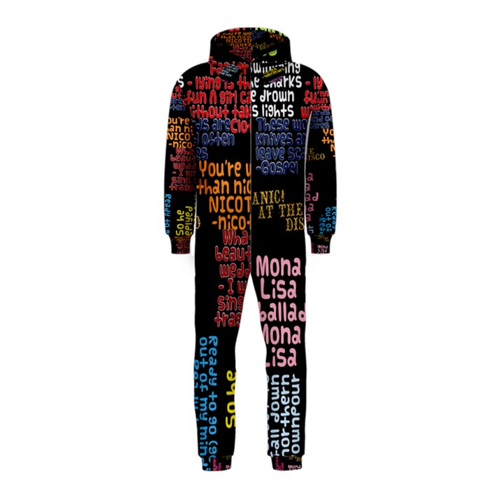 Panic At The Disco Northern Downpour Lyrics Metrolyrics Hooded Jumpsuit (Kids)