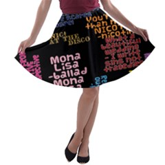 Panic At The Disco Northern Downpour Lyrics Metrolyrics A-line Skater Skirt