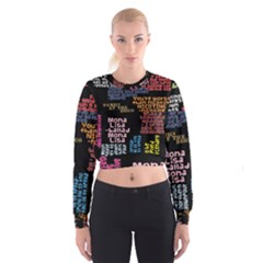 Panic At The Disco Northern Downpour Lyrics Metrolyrics Women s Cropped Sweatshirt