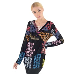 Panic At The Disco Northern Downpour Lyrics Metrolyrics Women s Tie Up Tee