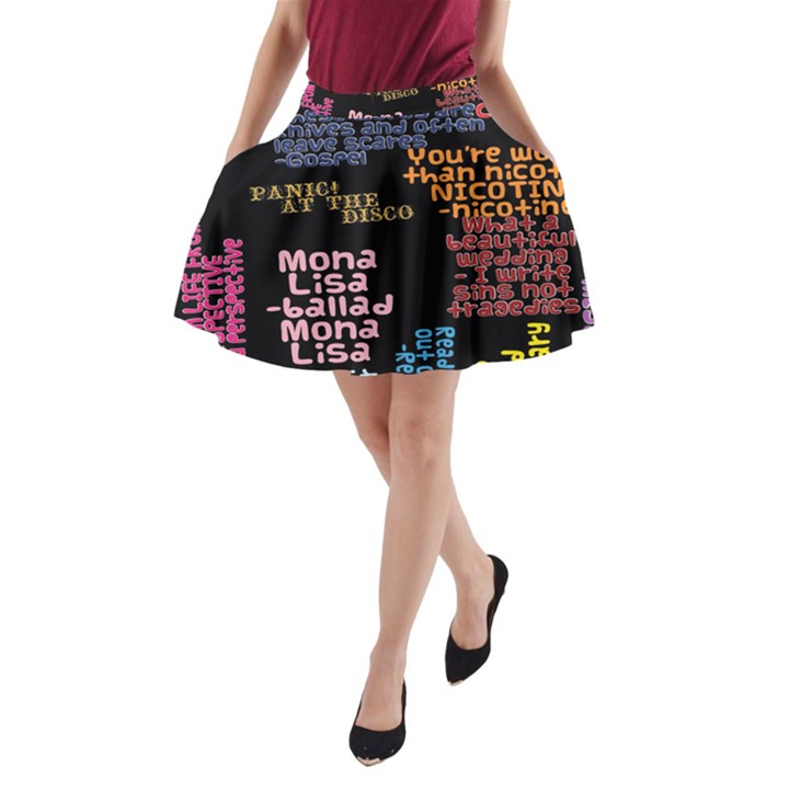 Panic At The Disco Northern Downpour Lyrics Metrolyrics A-Line Pocket Skirt